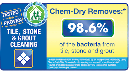Anderson's Chem-Dry removes up to 98% of bacteria from your tile floors, killing germs and removing scum.